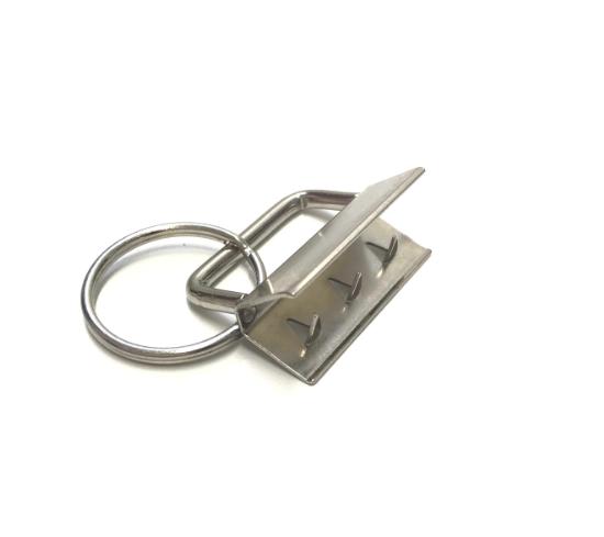 Schlüsselbandrohling für 25mmm Gurtband, silbern