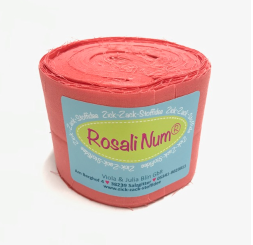 Jelly Roll Basic koralle, 6,5cm breit