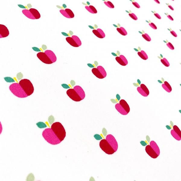 Coated-BW Apfel auf weiß