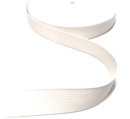 BW-Gurtband weiß, 30mm breit
