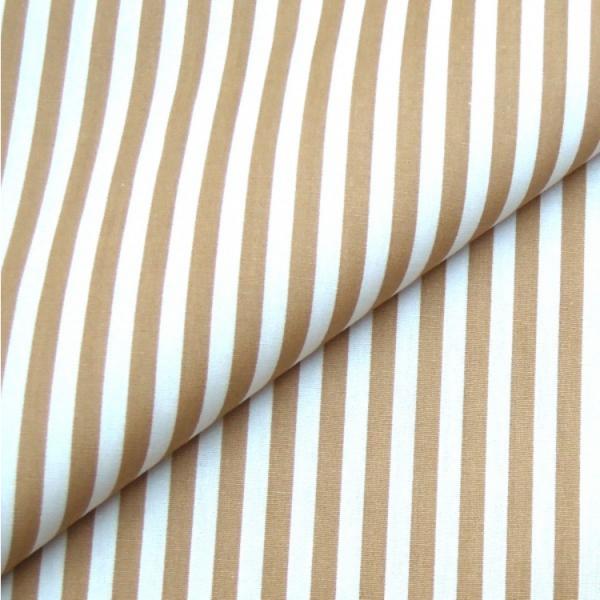 Baumwollwebware, Streifen beige-weiß