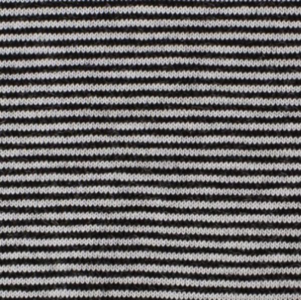 Bündchen Mini-Streifen schwarz