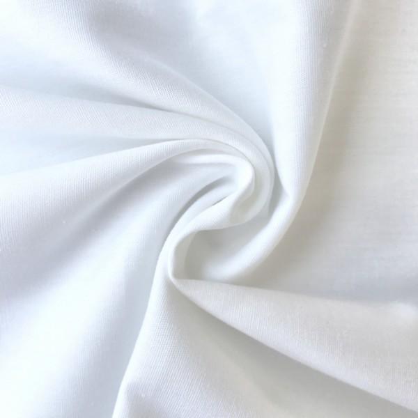 Uni-Baumwollstoff weiß