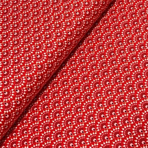 Retro Bogen rot 100%BW