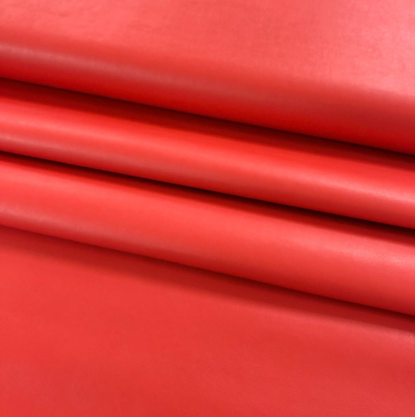 Kunstleder uni rot, leuchtendes rot