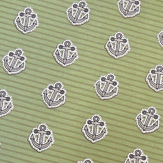 Jersey Anker & Streifen grün