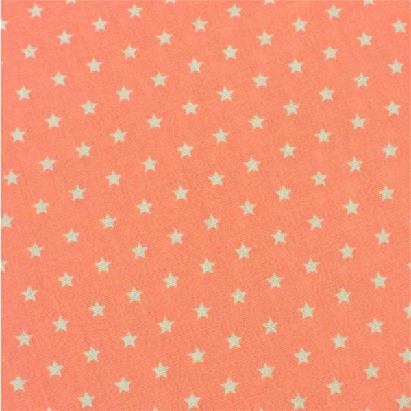 Mini-Sterne koralle-weiß