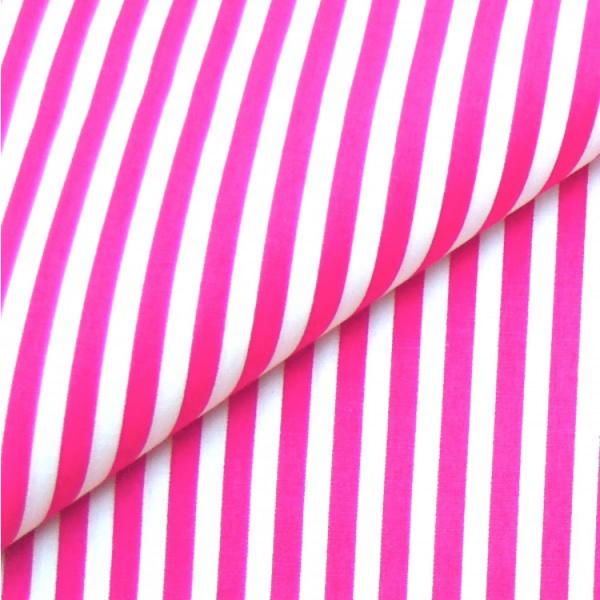 Baumwollwebware, Streifen pink-weiß