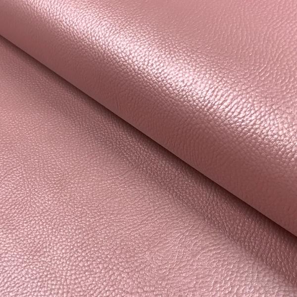 Kunstleder uni Perlmutt-Glanz rosa, altrosa