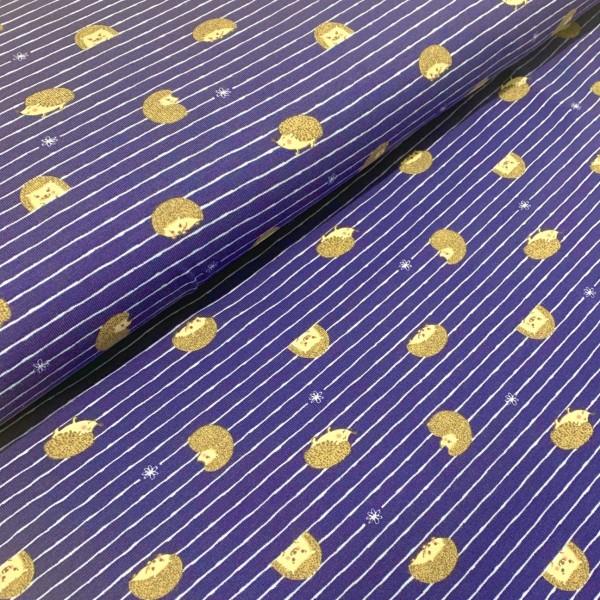 Jersey Igel auf Streifen dunkelblau