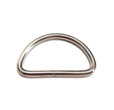 D-Ring silbern für 30mm breites Gurtband