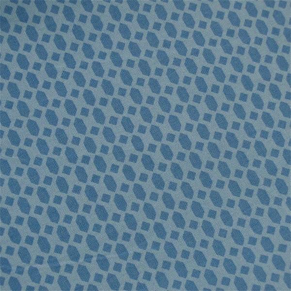 Stoff blau klein gemustert Waben