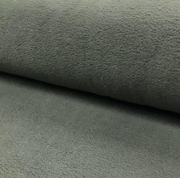 Polar Fleece uni grünliches taupe 100% PL