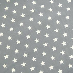 Sterne 1,5cm hellgrau/ weiß