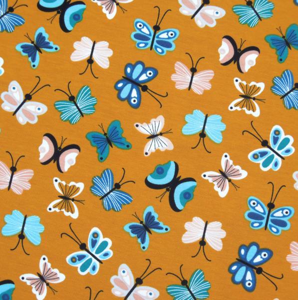 Jersey Schmetterlinge auf senf