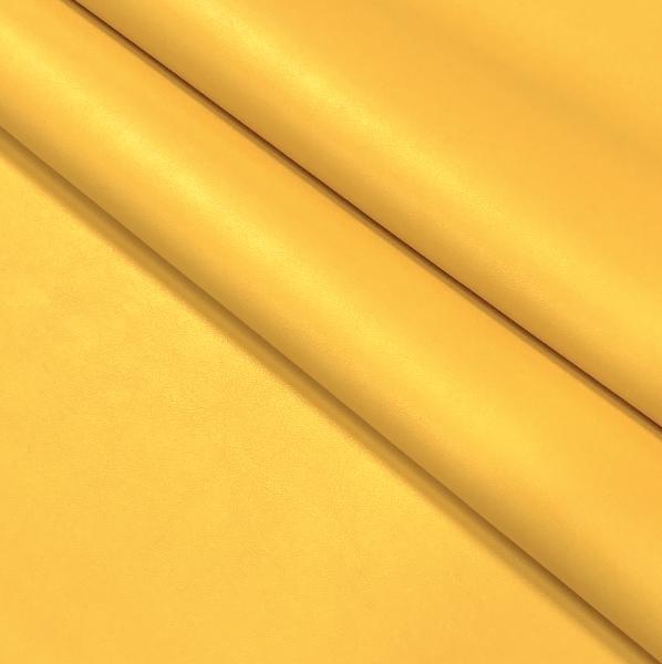 Kunstleder uni gelb