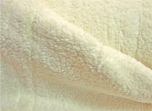 Teddyplüsch (Baumwolle) wollweiß