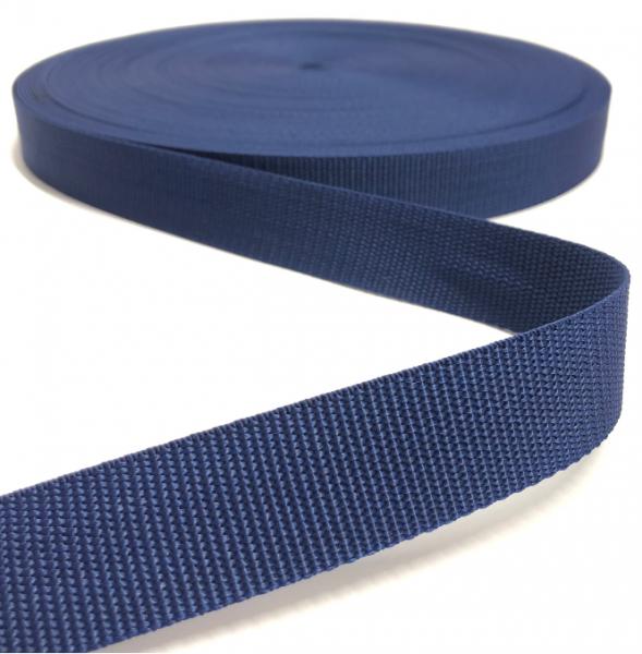 Gurtband Polypropylen dunkelblau, 25mm breit
