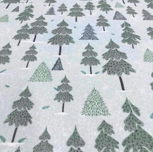 Canvas Winterwonderland, Bäume auf eisblau