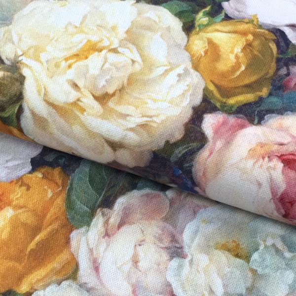Dekostoff Canvas altmeisterliche Blumen