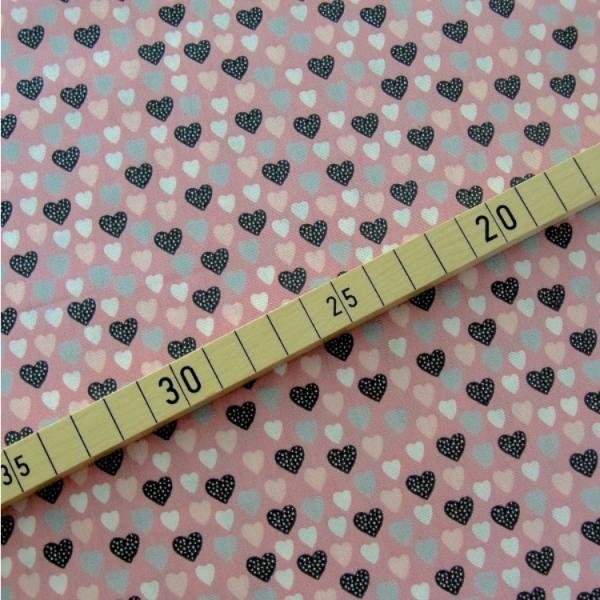 Herzen rosa-grau