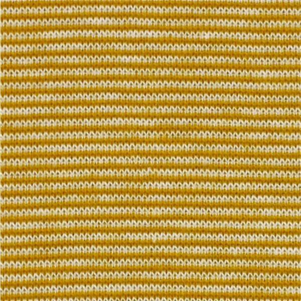 Jersey Mini-Streifen senfgelb-weiß