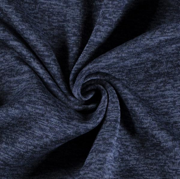 Strick-Sweat dunkelblau melange- mit angerauter Innenseite