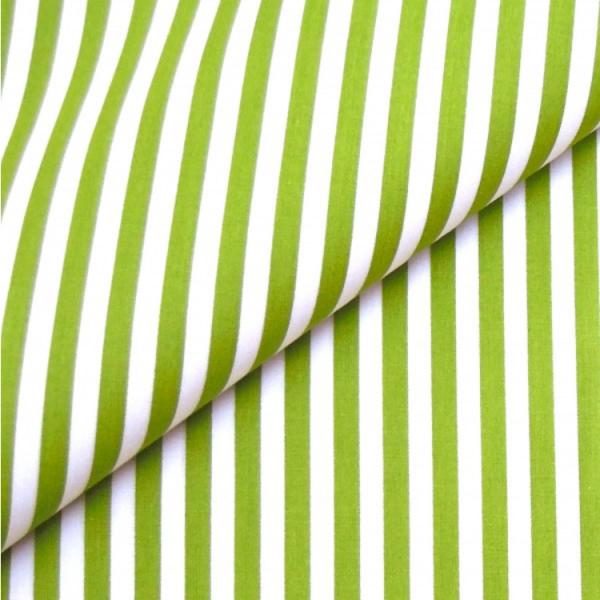 Baumwollwebware, Streifen hellgrün-weiß