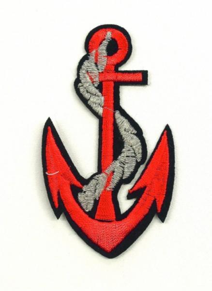 Applikation Anker rot ca. 9cm hoch 5cm breit