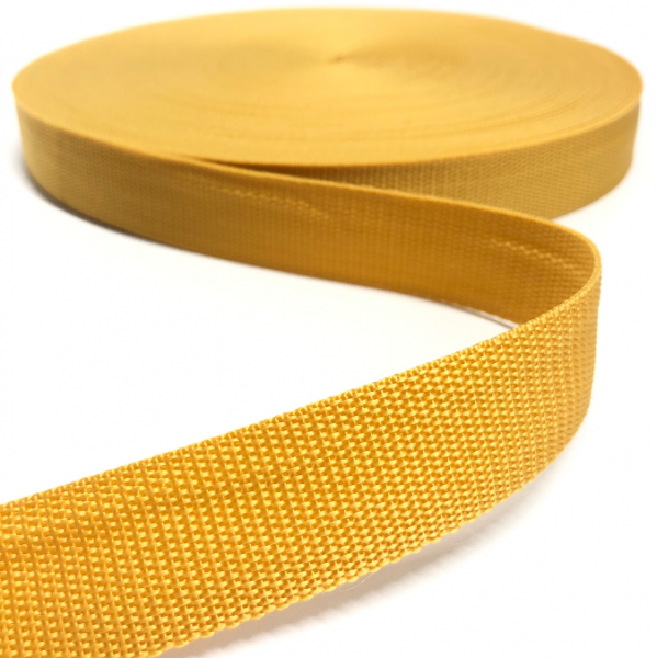Gurtband Polypropylen senfgelb, 30mm breit