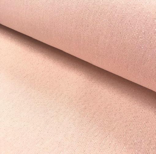 Dekostoff rosa mit Glitzerpartikeln