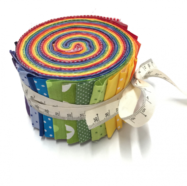 Jelly Roll Regenbogen,ca 6,5cm breit