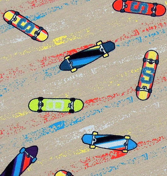 Frech Terry Skateboards grau