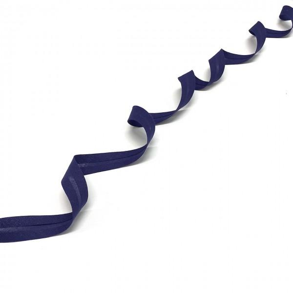 3 m Schrägband 100 % Baumwolle 20mm dunkelblau