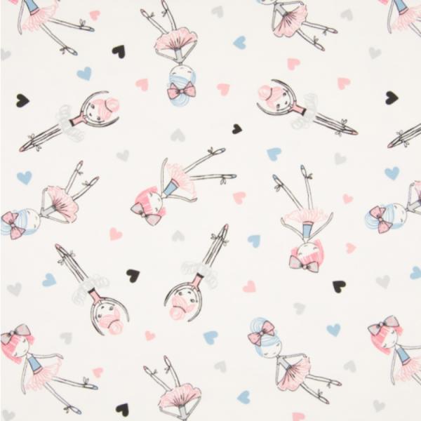 Jersey Ballerina weiß-rosa, Dancing Lady