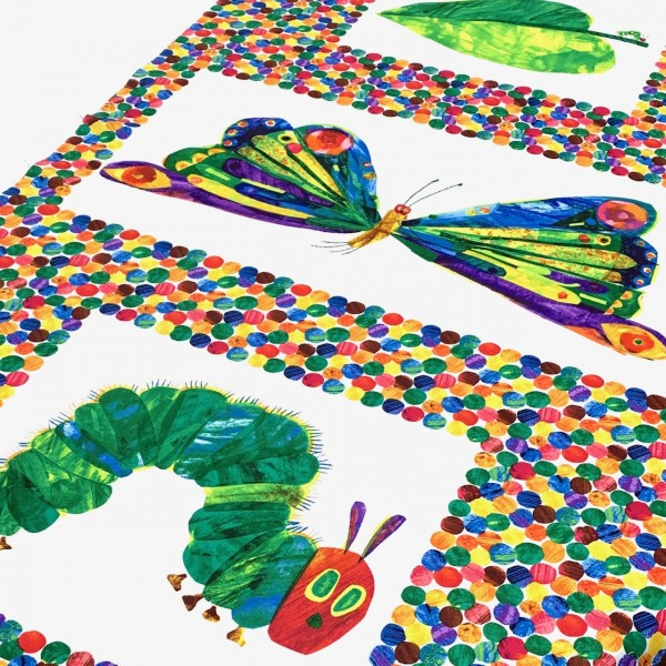 Patchworkstoff hungry caterpillar , Panel 60cm x 110cm