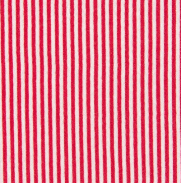 Bündchen Ringel 4mm rot-weiß