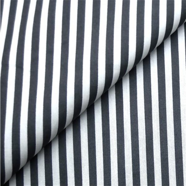 Baumwollwebware, Streifen schwarz-weiß