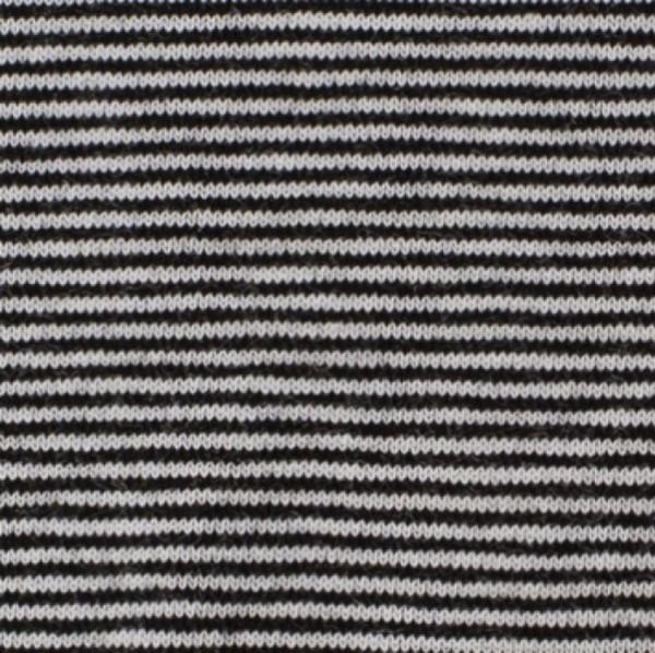 Jersey Mini-Streifen schwarz-weiß