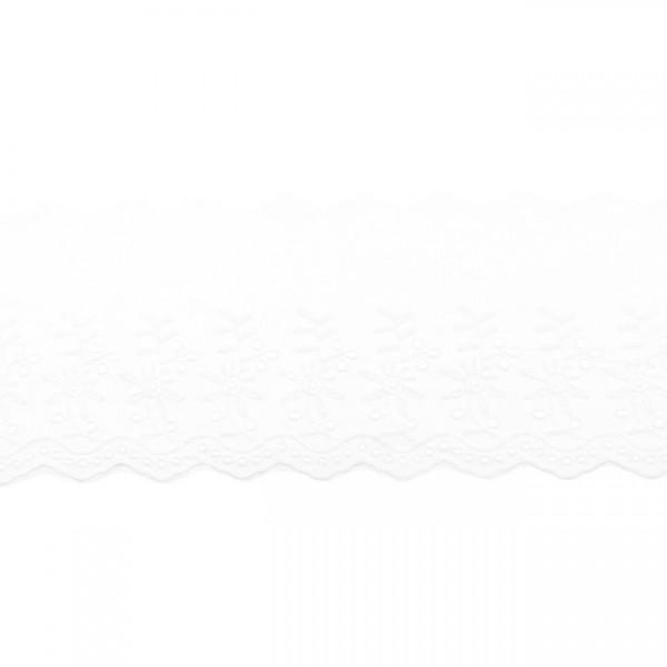 """Stickerei-Spitzenborte """"Blümchen"""", 9cm, weiß(69)"""