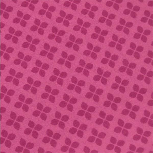 Stoff pink klein gemustert Kleeblätter