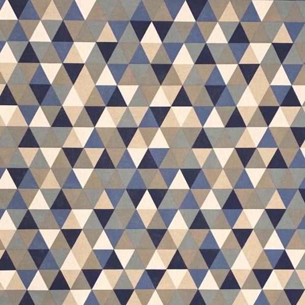 Dekostoff Triangel blau