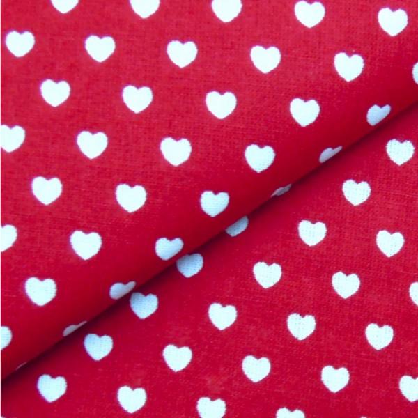 Herzen rot-weiß
