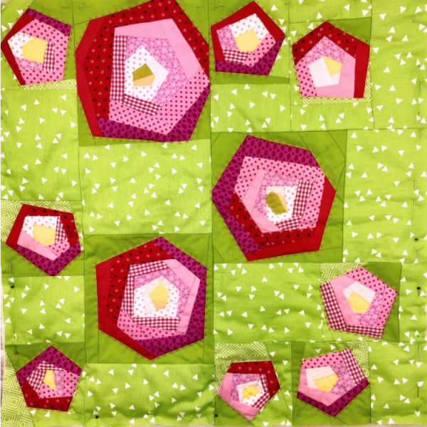 Nähset Patchworkblock April
