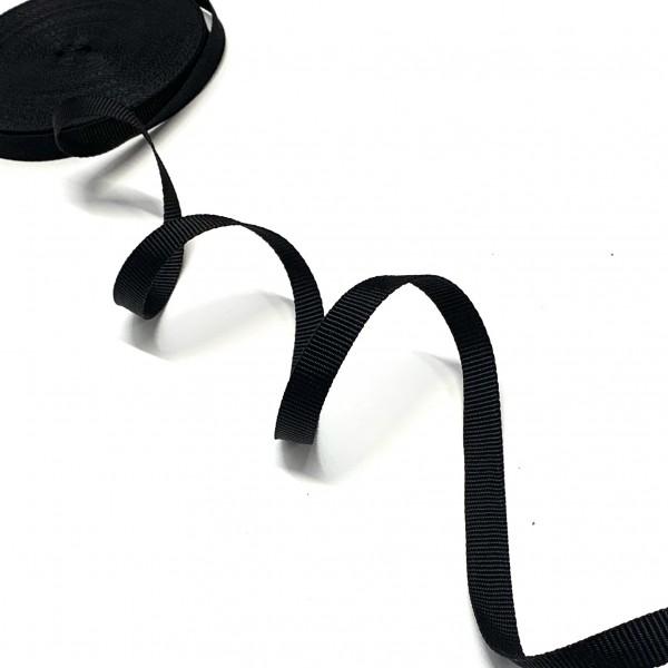 Gurtband Polyester schwarz, 15mm breit