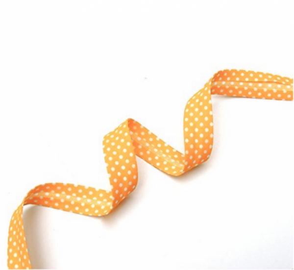 5m Schrägband Punkte gelb (05)