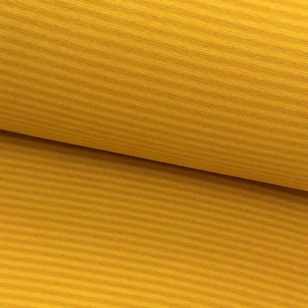 Bündchen-Schlauch Ringel senf-gelb 34