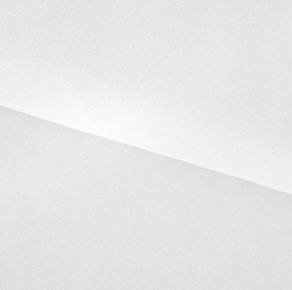 Canvas Baumwolle uni weiß