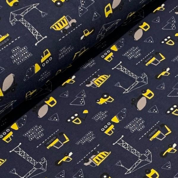 Jersey kleiner Bagger dunkelblau-gelb