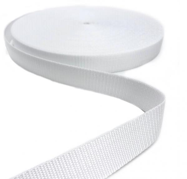Gurtband Polypropylen weiß, 30mm breit
